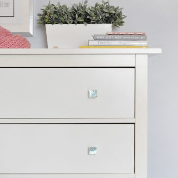 DIY Opalescent Drawer Knobs