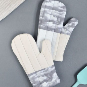 DIY Quilted Cloud Oven Mitts