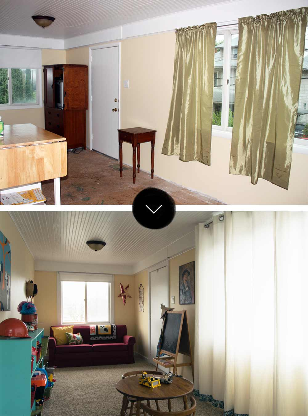 Before & After: A Fun Family Home for Mom and Son, on Design*Sponge