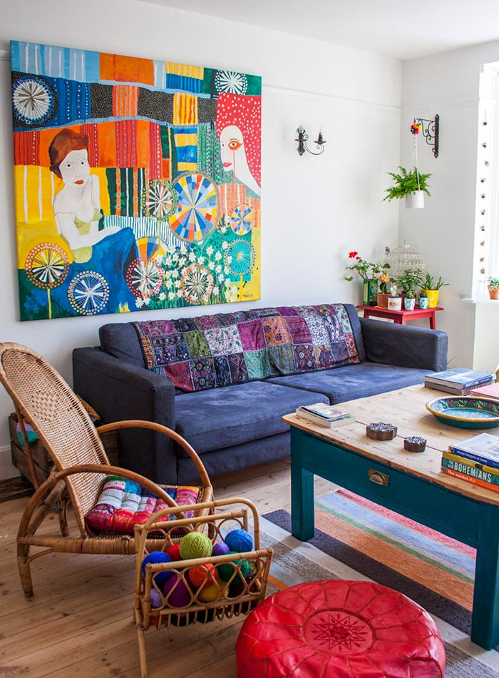 An English Home Goes From White To Wonderfully Colorful Design Sponge