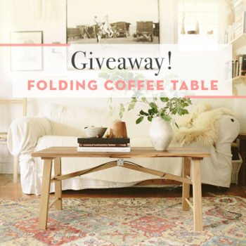 Giveaway: Folding Coffee Table