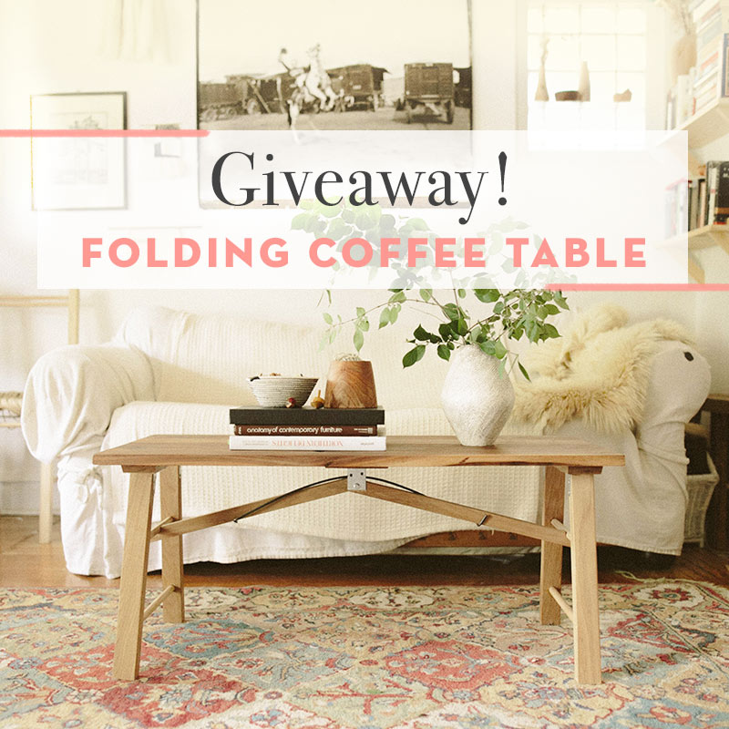 Exclusive Giveaway: Folding Coffee Table, Design*Sponge