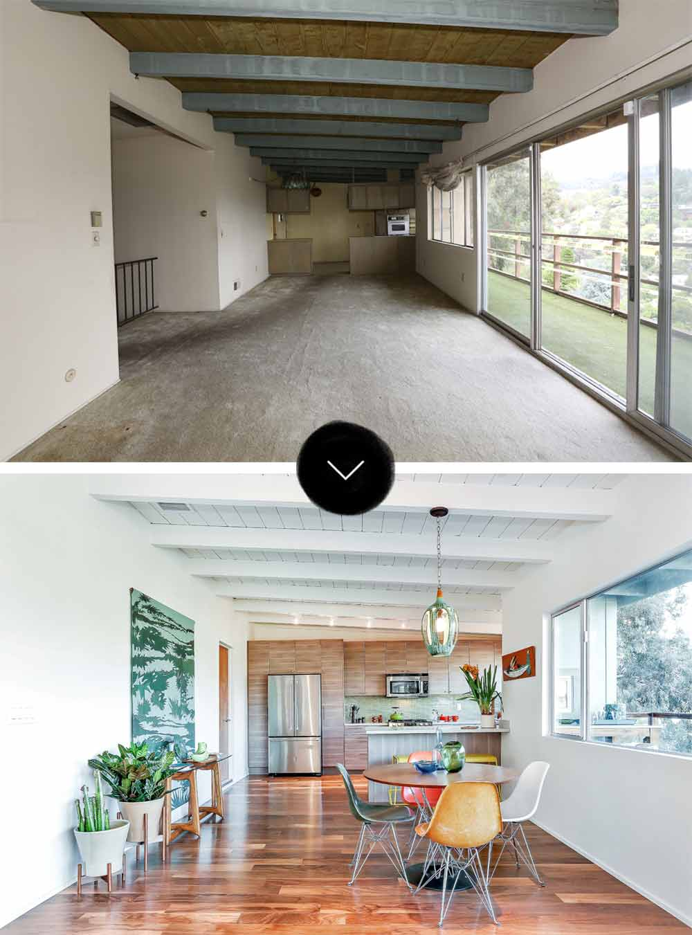 Before After A Mid Century Post And Beam Home In Mt Washington Design Sponge