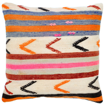 My go-to spot for finding great (and highly unique) pillows made from kilim rugs is Leif. Stacy carries a great selection that is made by Christian Rathbone in Brooklyn. Christian travels abroad and works with makers in Turkey to select designs that are then turned into pillows stateside (check out his home tour here!). This pillow has a great mix of bright colors and pattern. 16x6 (insert included) $88 at Leif.