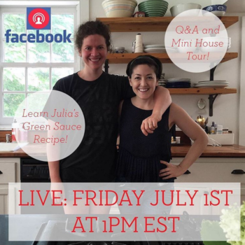 Facebook LIVE! Today at 1pm EST with Grace + Julia