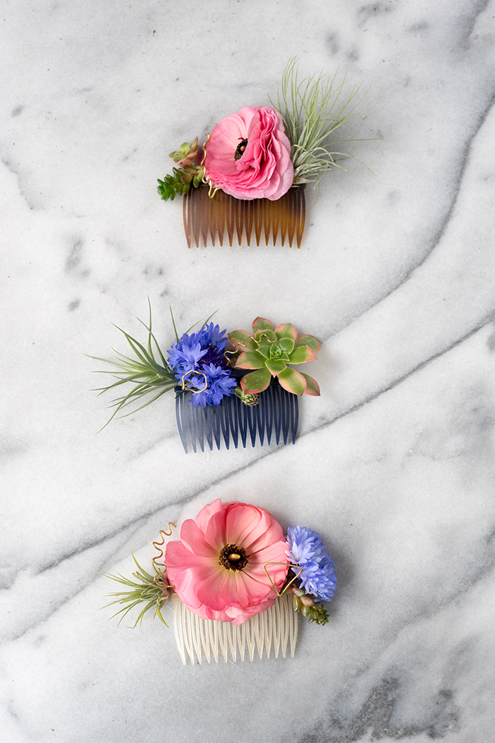 Diy modern floral hair comb designsponge diy modern floral hair comb diy modern floral hair comb design sponge supplies hair solutioingenieria Image collections