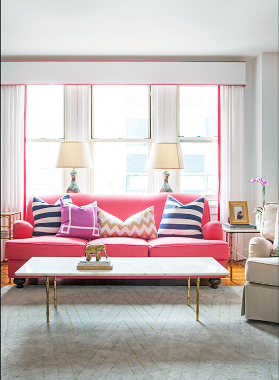 Superbe 12 Times Pink Sofas Made The Room On Design*Sponge