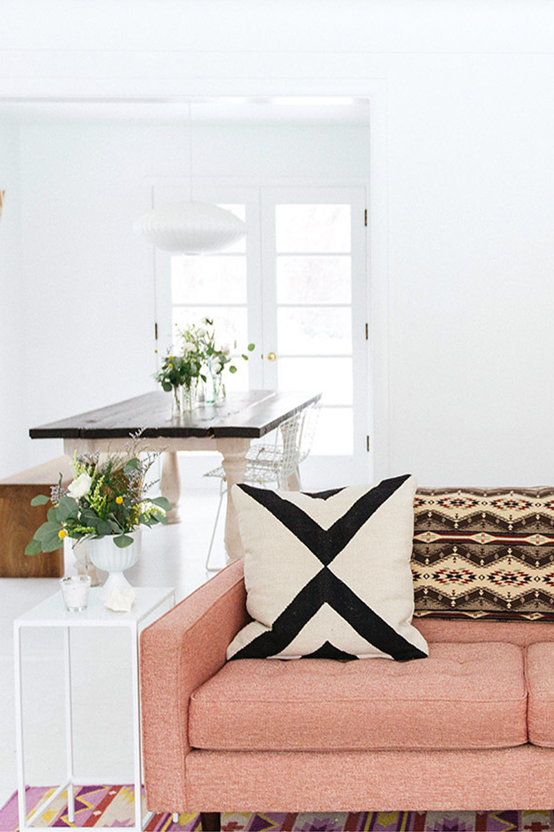 12 Times Pink Sofas Made the Room on Design*Sponge