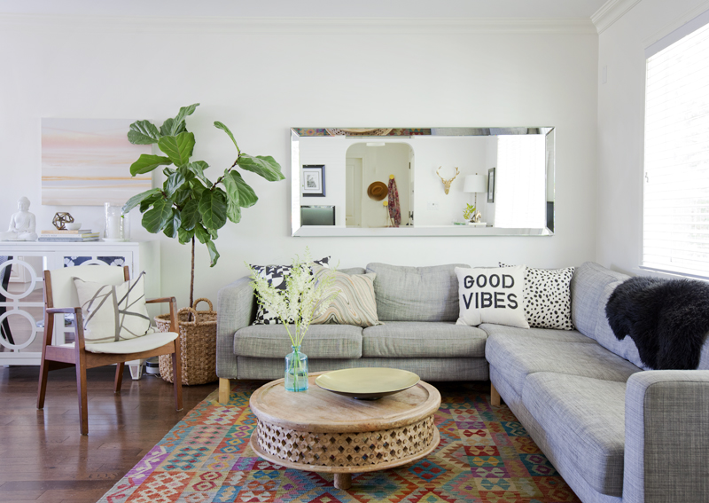 Living Room with designer Karla Dreyer from Design Sponge