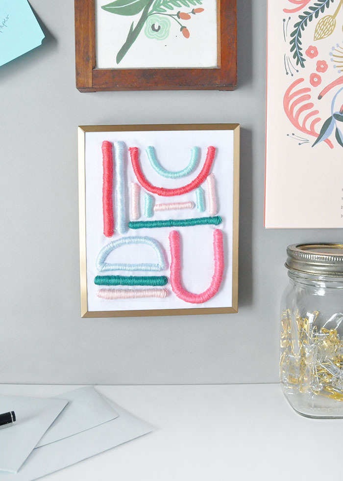 DIY Embroidered Art on Design*Sponge