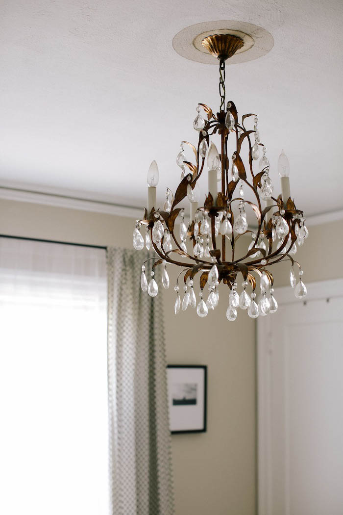 Vintage Chandelier in Abi and Ryan's Bedroom on Design* Sponge