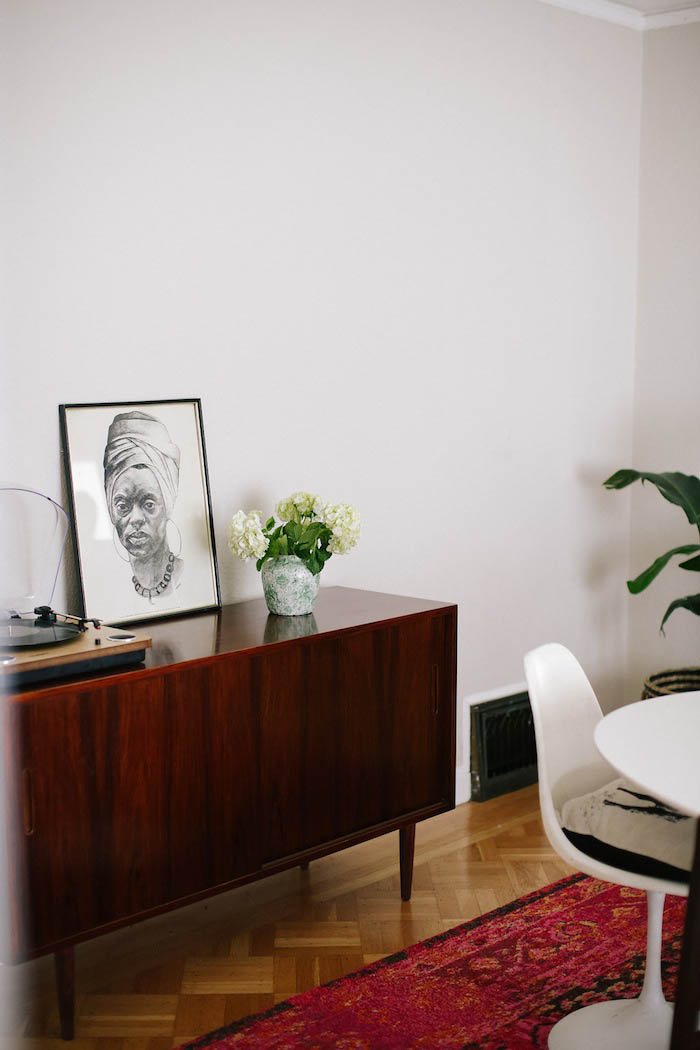 Mid-Century Sideboard in Abi and Ryan's Design* Sponge Home Tour