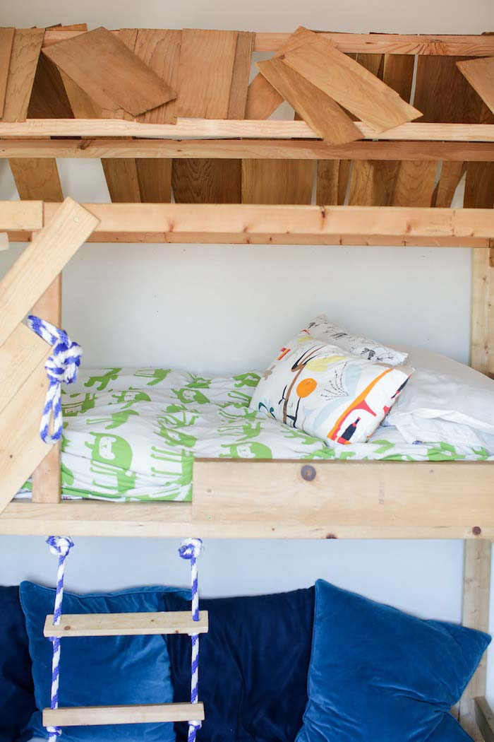 A DIY Project For The Whole Family The Q Boys' Bed on Design* Sponge