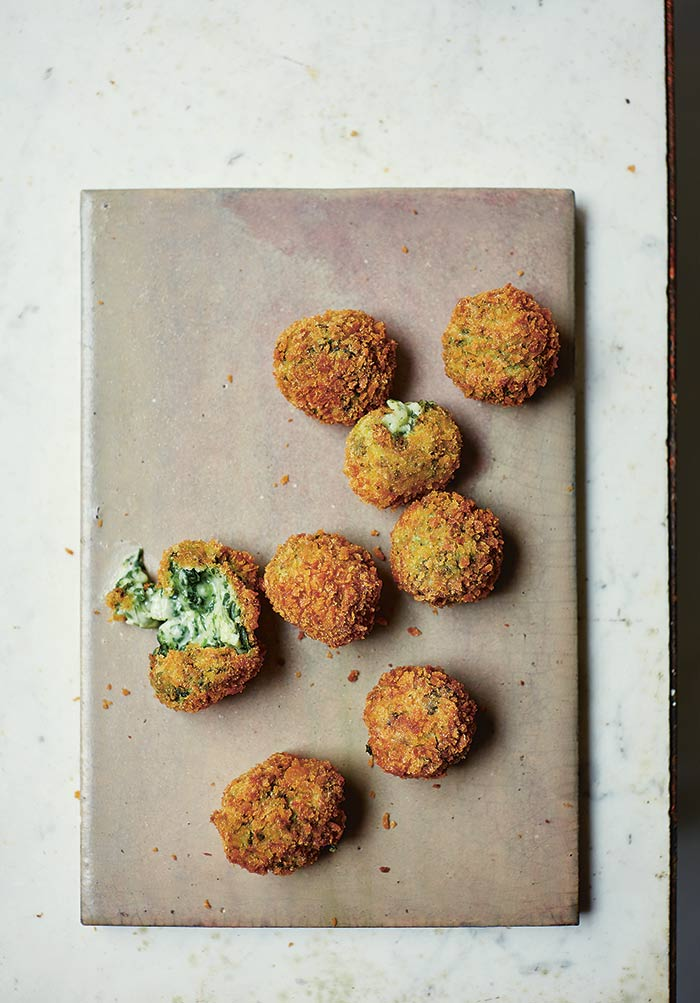 Spinach and Goat Cheese Croquetas by Jose Pizarro photo Laura Edwards