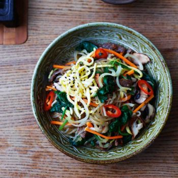 In the Kitchen With: Jordan and Rejina's Beef and Veg Glass Noodles