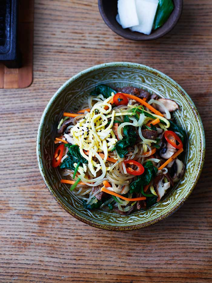 Beef and Vegetable Sesame Glass Noodles