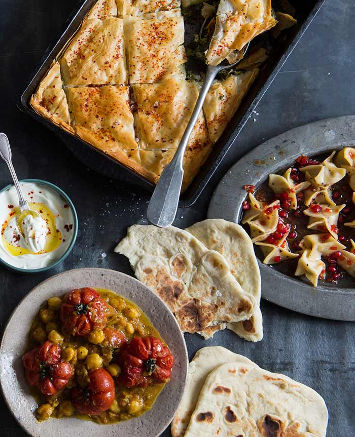 Food from New Feast cookbook by Greg and Lucy Malouf