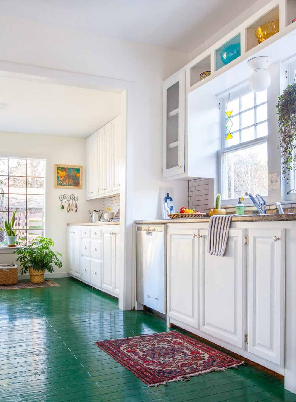 green kitchen floor 10 of our favorite summery kitchens design sponge 1409