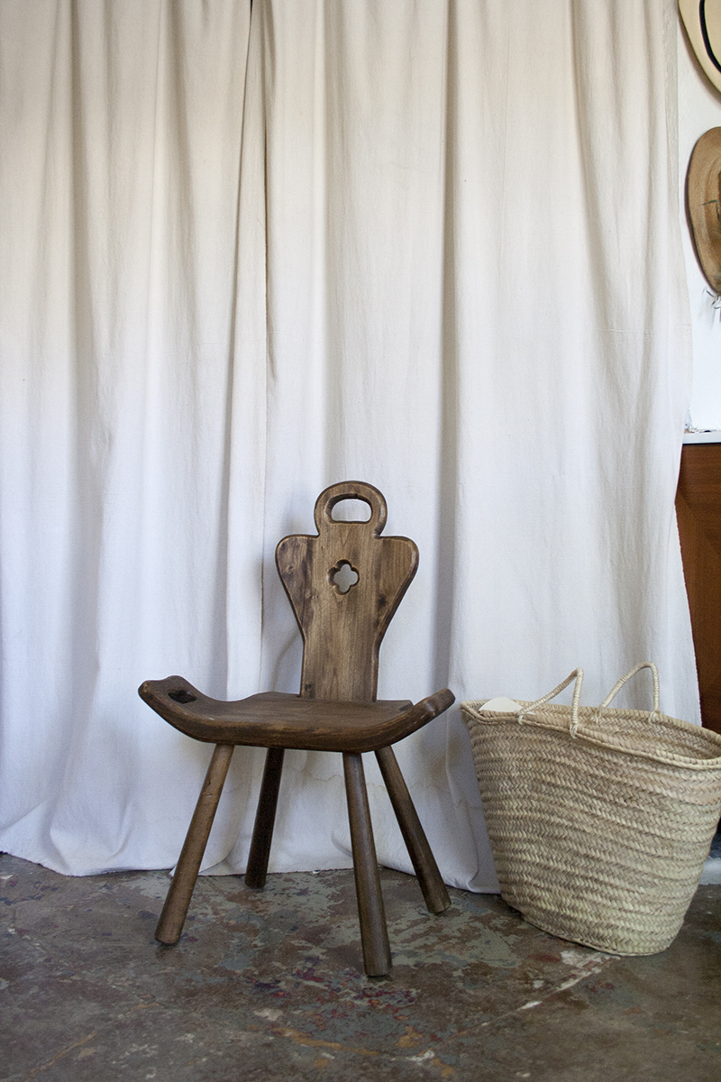 Flea market finds in the home of Salima and Roberto