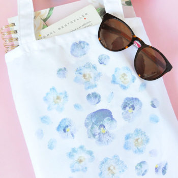 DIY Pounded-Flower Tote