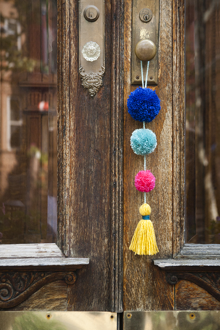 Summer Pom Pom Door Swag by Jessica Marquez for Design Sponge