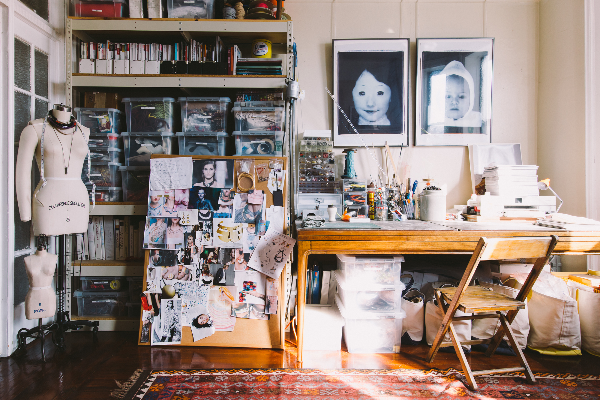 A Jewelry Artist's Home Studio Makes Use of Each Bit of Space on Design*Sponge