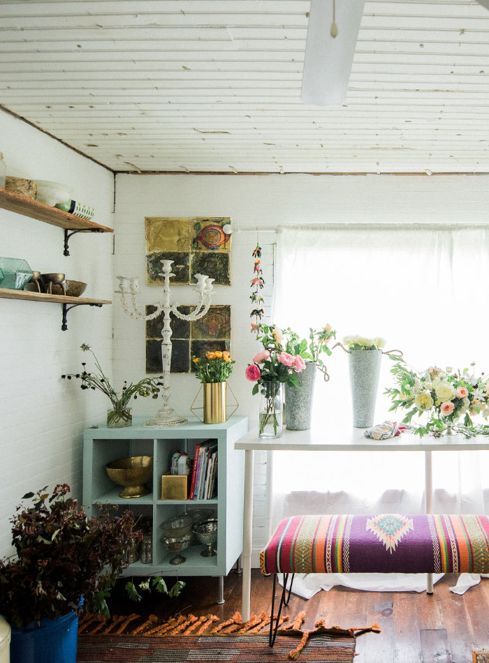 In Florida, Two Florists' Rustic Bungalow, Design*Sponge