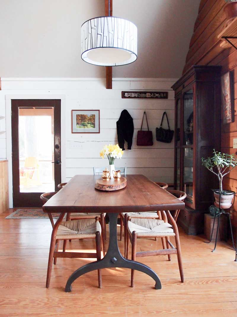 A Log Cabin in the Pennsylvania Woods for Two Creatives | Design*Sponge
