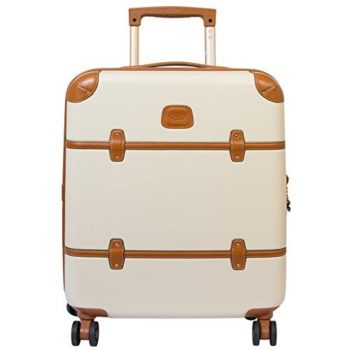 Bric's Luggage Bellagio Ultra-Light 21 Inch Carry On Spinner Trunk (What a name) is pricey  at $375, but it's definitely the cutest carry-on sized bag I've found on the market. It looks like a classic fabric trunk, but it's actually leather, so it's much more resistant to scuffs and stains.