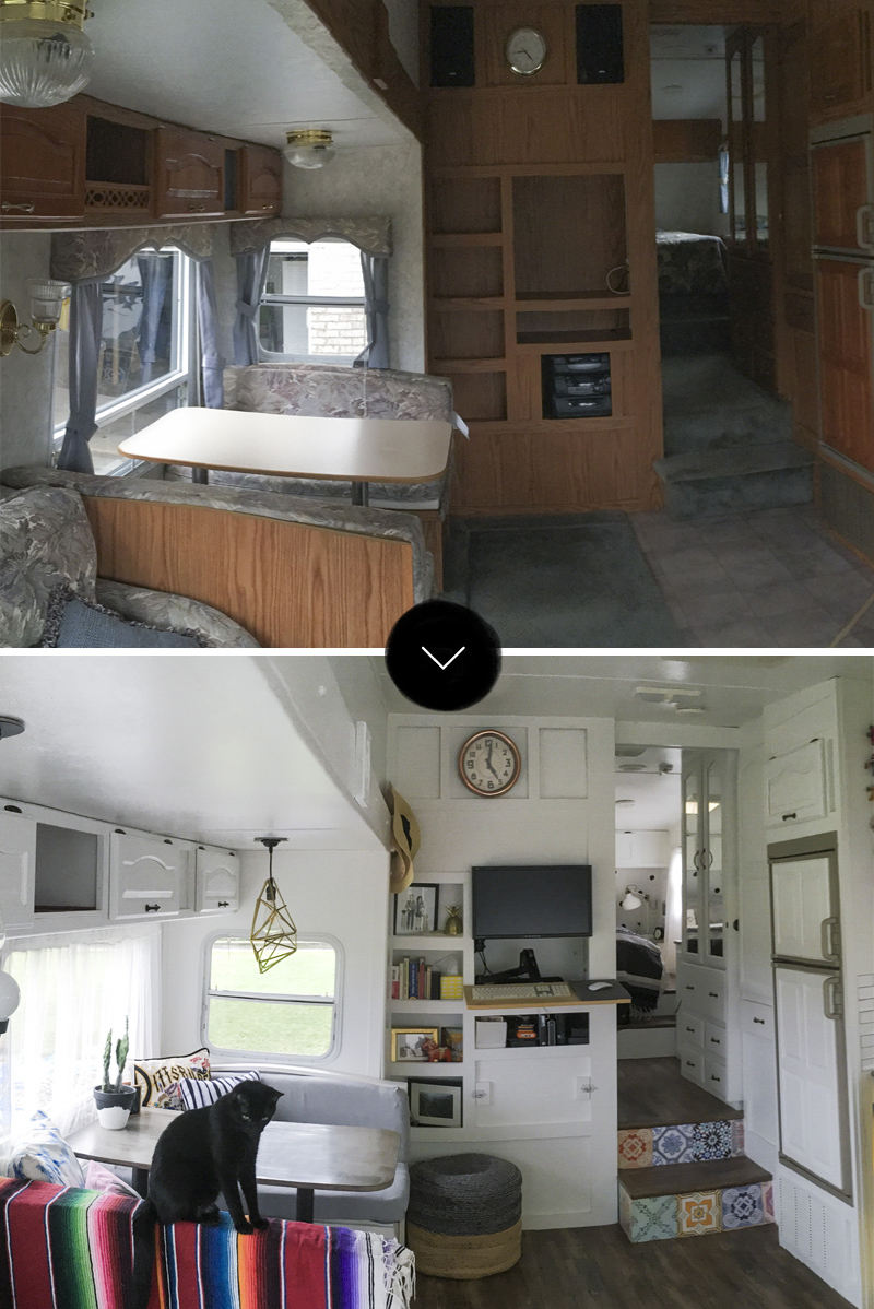 Before and After Converting 188 sq ft