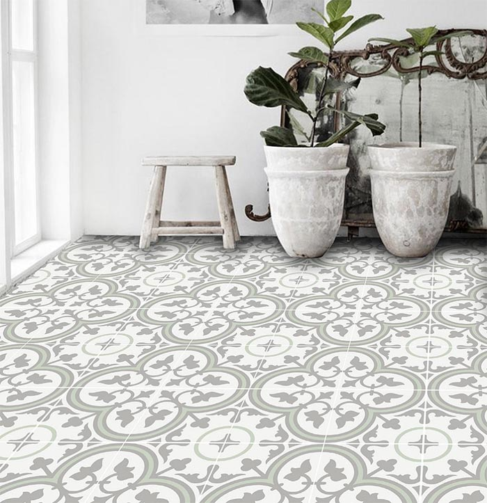 Patterned Peel + Stick Floor Tiles – Design*Sponge