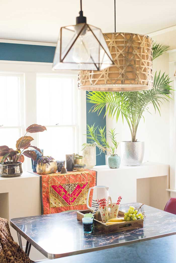 Shayne and Mark's Thrifted Dining Nook On Their Design* Sponge Home Tour