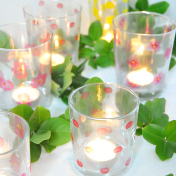 DIY Floral Votives