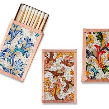 These incredible Florentine pattern matchboxes ($18) have copper on the outside! They're definitely pretty enough to repurpose for jewelry holders after you're done with the matches.