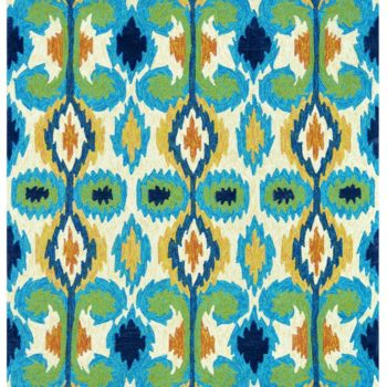 Loloi's Enzo Ikat rug is FULL of color and would look stunning on a front porch (and can handle the outdoor weather!). $99+ here.