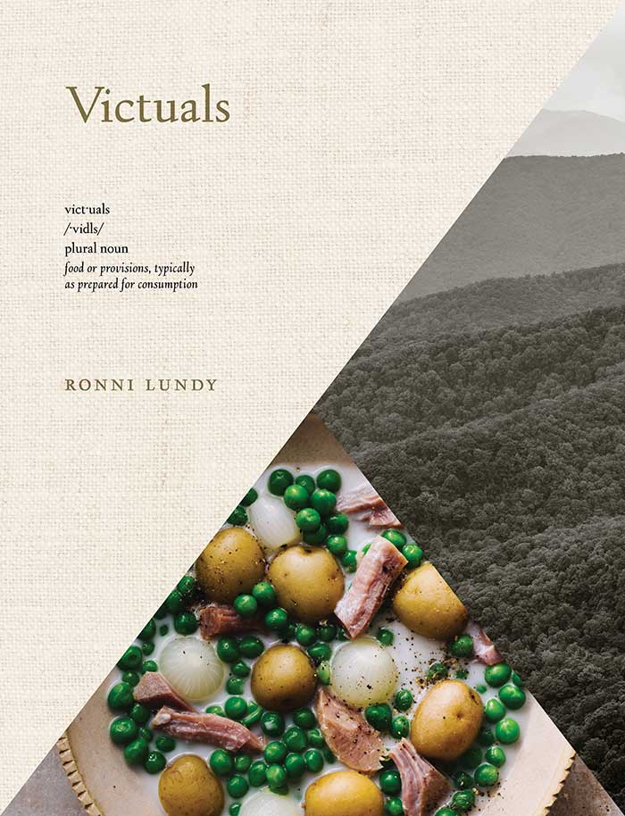 Cover of Victuals cookbook by Ronni Lundy photography by Johnny Autry on DesignSponge