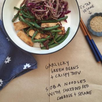 Easy Healthy Lunch Boxes from Julia Turshen: Soba Noodles with Shredded Red Cabbage + Sesame