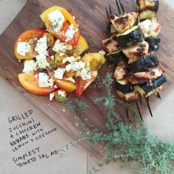 Easy Healthy Lunch Boxes from Julia Turshen: Grilled Zucchini + Chicken Kebabs