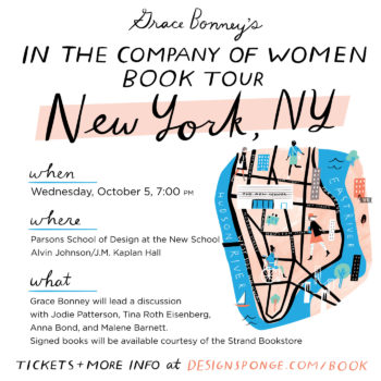Design*Sponge Book Tour: NYC + Best of the Web