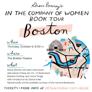 Design*Sponge Book Tour: BOSTON!