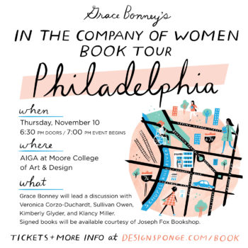 Design*Sponge Book Tour: Philadelphia!