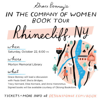 Design*Sponge Book Tour: Rhinecliffe, NY!