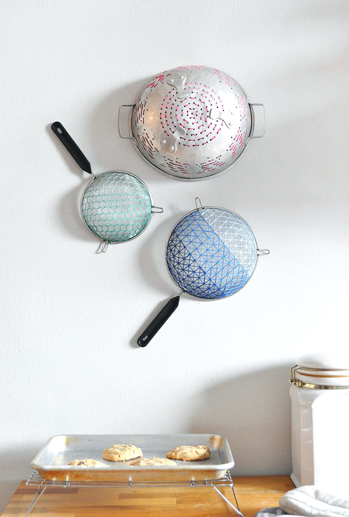 DIY Embroidered Strainer Art on Design*Sponge