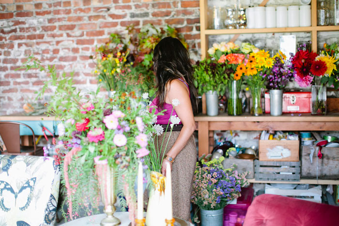 Oakland's Gorgeous And Green, A Sustainable Floral Studio, Tour On Design* Sponge