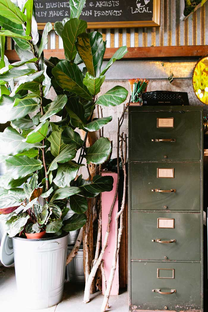 Vintage Filing Cabinet For Modern Organization In Gorgeous And Green's Studio Tour On Design* Sponge