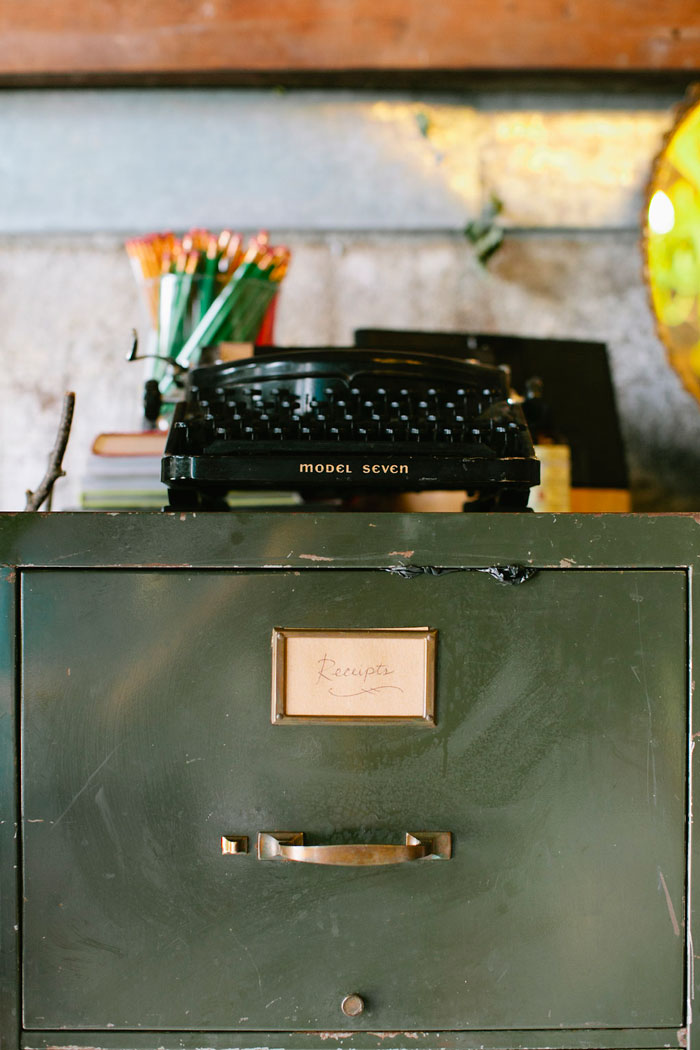 Vintage Filing Cabinet For Receipt Hard Copies From Gorgeous And Green's Design* Sponge Studio Tour