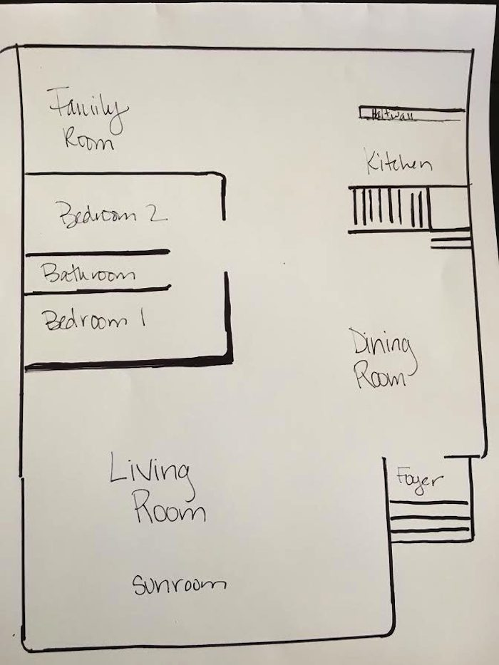 Layne And Mark's Floor Plan From Their Home Tour On Design* Sponge
