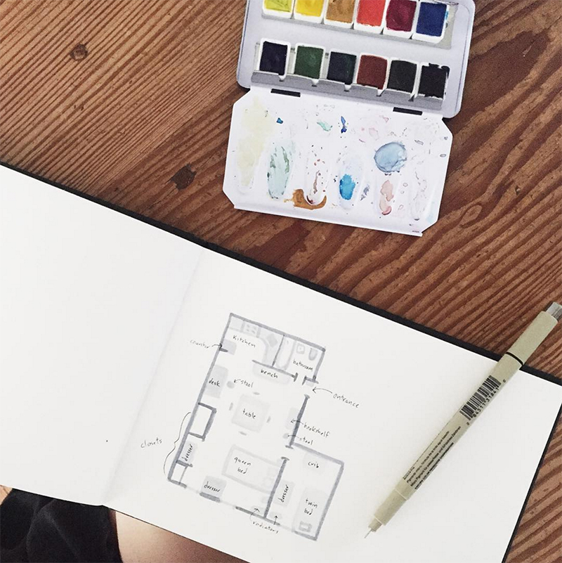 Small Space Instagrammers on Design*Sponge
