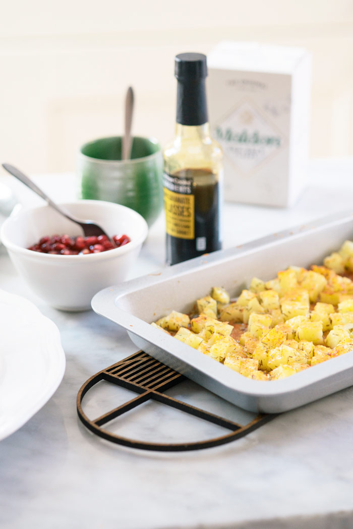 Preparing Potato Croutons for Cured Beef Salad by Chiron Cole | DesignSponge