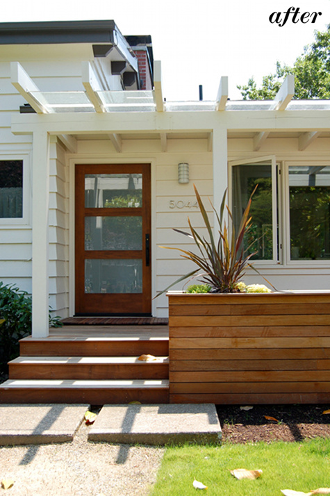 Matching landscaping to house styles on Design*Sponge